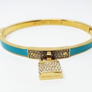 Michael Kors Gold Pave Padlock Bracelet